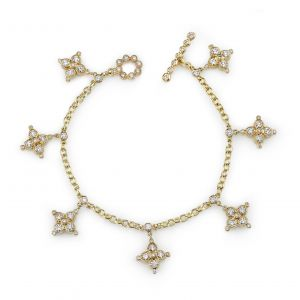 Flower Cross Charm Bracelet
